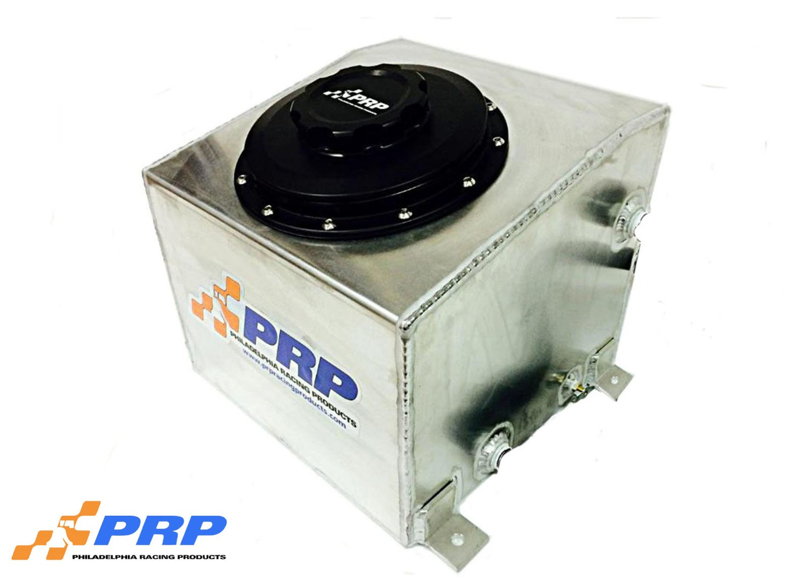 Intercooler tank with Black fill cap made by PRP Racing Products