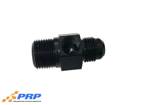 """Black Flare to Pipe Adapter With 1/8"""" Port AN"""