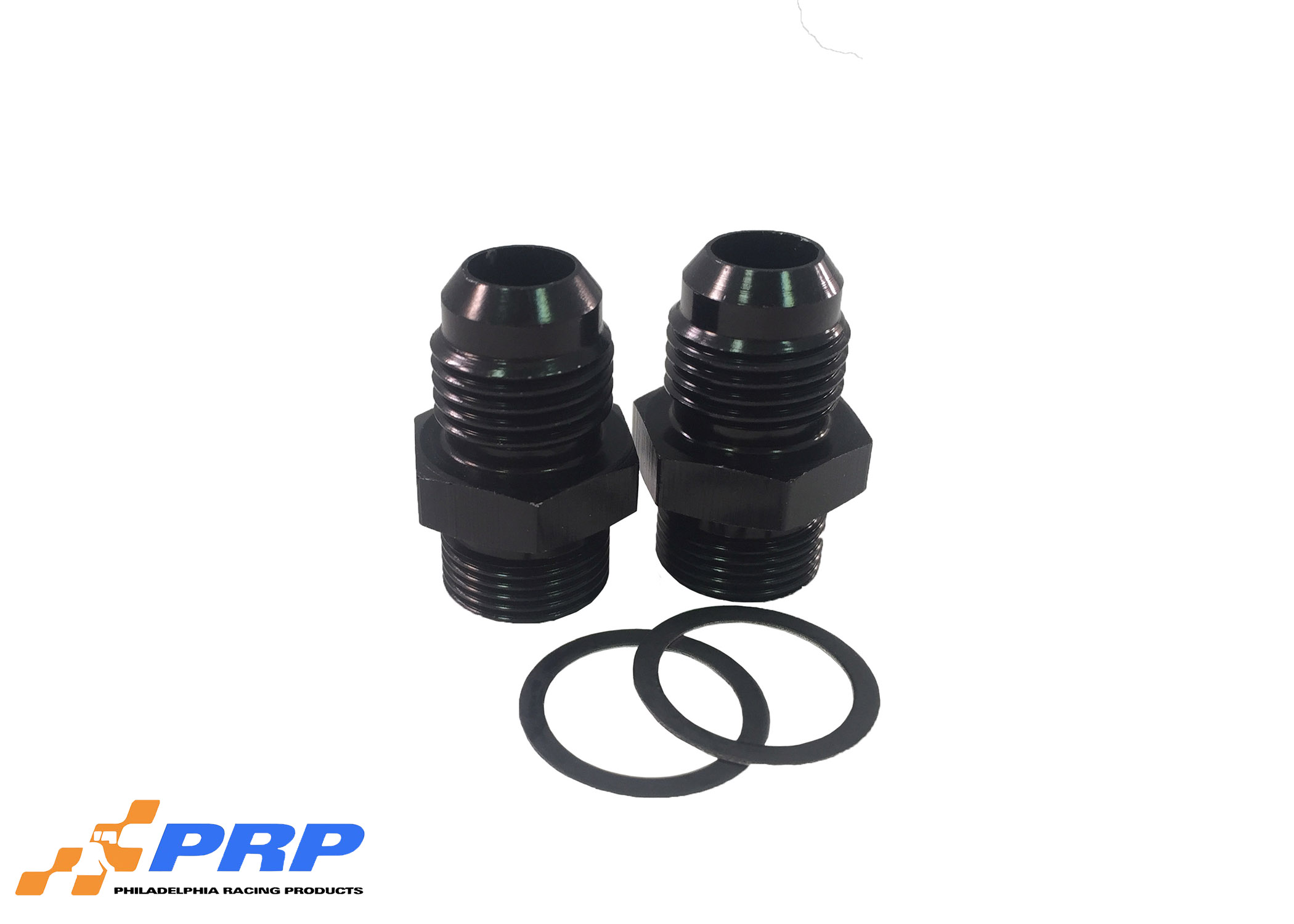Black Carburetor Inlet Fittings made by PRP Racing Products