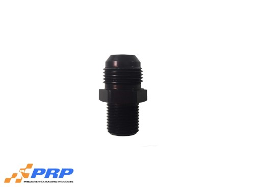 """Black 12AN to 1/2"""" Pipe Straight Flare to Pipe Adapters by PRP Racing Products"""