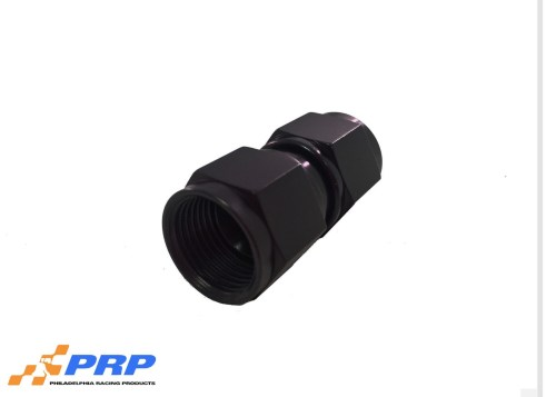 Black Straight Swivel Coupler 8-AN made by PRP Racing Products