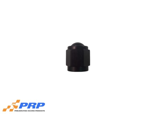 Black Flare Caps - 4-AN made by PRP Racing Products