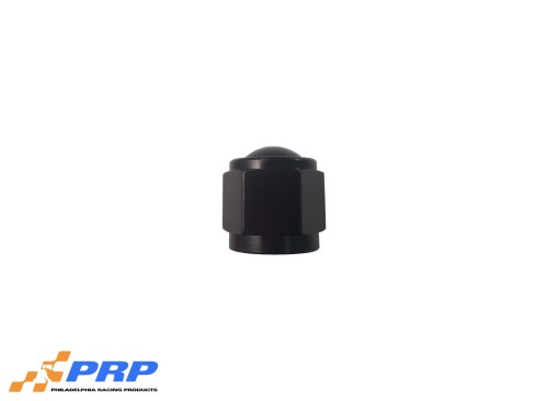 Black Flare Caps - 8-AN made by PRP Racing Products