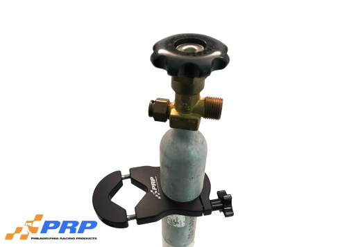 PRP's Black CO2 Mounting Bracket with bottle