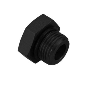 Earl's Black Port Plug with O-Ring Seal Size: -8AN