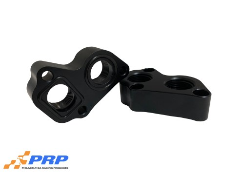 Black LS 12AN Block Adapters made by PRP Racing Products