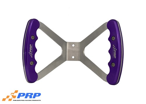 Jr. Dragster Butterfly Steering Wheels Purple Grips on wheel made by Philadelphia Racing Products