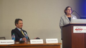 Sunia Zaterman, Executive Director of CLPHA, gives opening remarks on the first day of the conference.