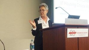 Panel: Research Update—New Insights Into Housing Mobility Implementation and Outcomes. Moderator Deb Gross (CLPHA) introduces the panel.