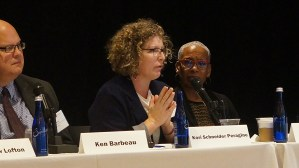 Panel: Forming Regional Partnerships to Promote Mobility. From left to right: Ken Barbeau (Milwaukee Housing Authority), Kori Schneider Peragine (Milwaukee Fair Housing Council), and Susan Rollins (Housing Authority of St. Louis County).