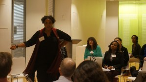 Demetria McCain (ICP) facilitating a breakout session on managing community expectations and messaging.