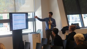Brian Knudsen (PRRAC) facilitating a breakout session on selecting target opportunity areas and payment standards.