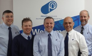 The members of Pruce Newman's Executive Board: (l-r) Alan Pruce, Jamie Key, Graham Newman, Darren Razzell, Tim Moorse