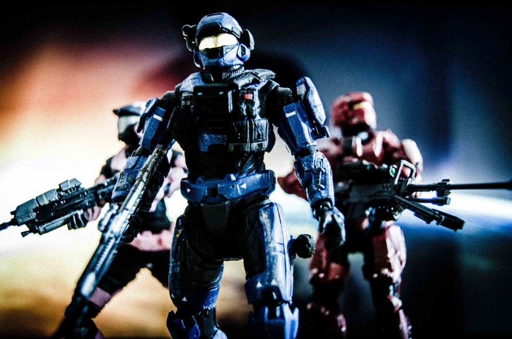 soldiers in futuristic armour