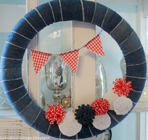 50 Best DIY 4th Of July Wreaths Prudent Penny Pincher