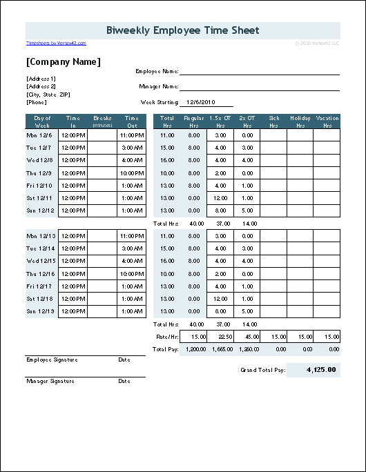 basic monthly timesheet template
