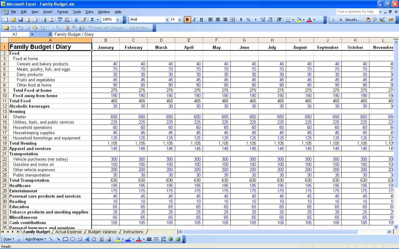 daily expenses sheet in excel format free download