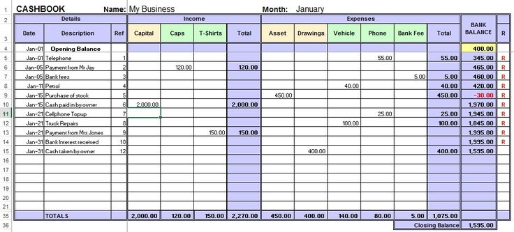 excel sheet for accounting free download 1