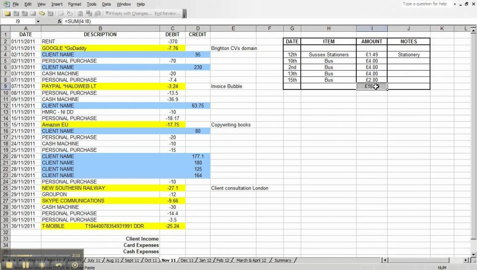 how to maintain accounts in excel sheet format sample 1