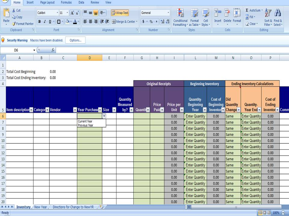 inventory and sales manager excel template 1