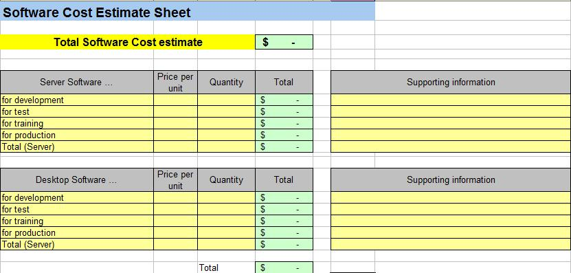 job costing spreadsheet template