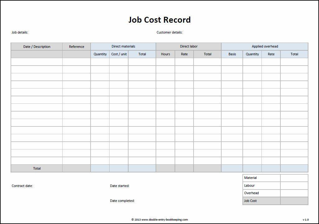 manufacturing cost sheet in excel sample