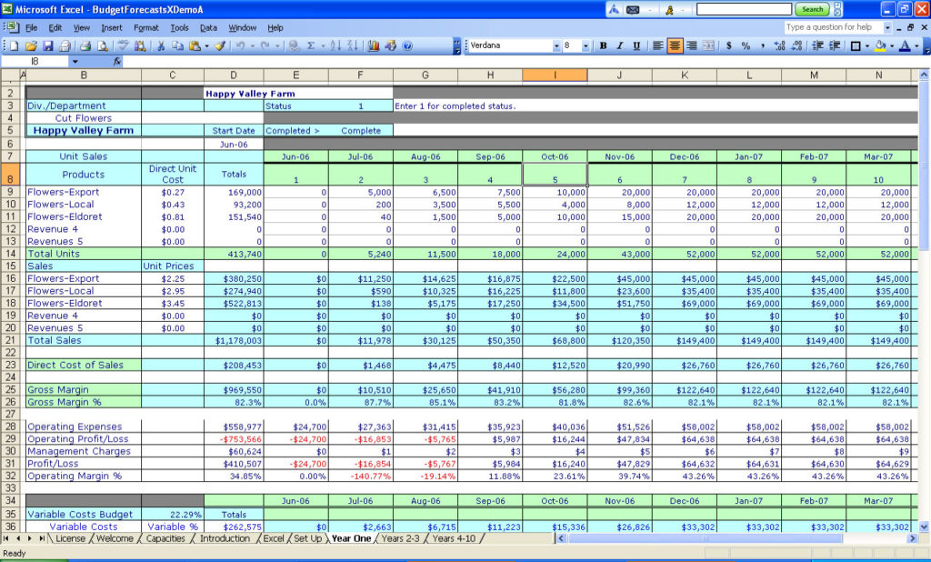 monthly budget planner excel sample