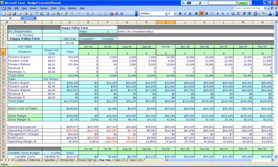 small business spreadsheet for income and expenses 5