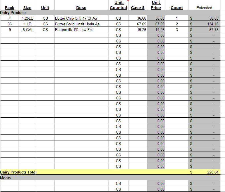 store inventory software excel sample