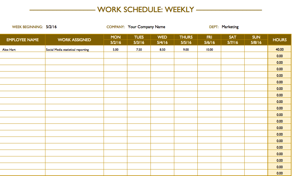 excel weekly calendar 2017 sample 3