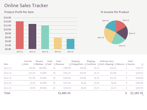 monthly sales report format in excel