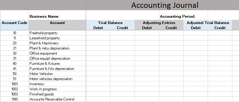 accounting in excel format free download 1