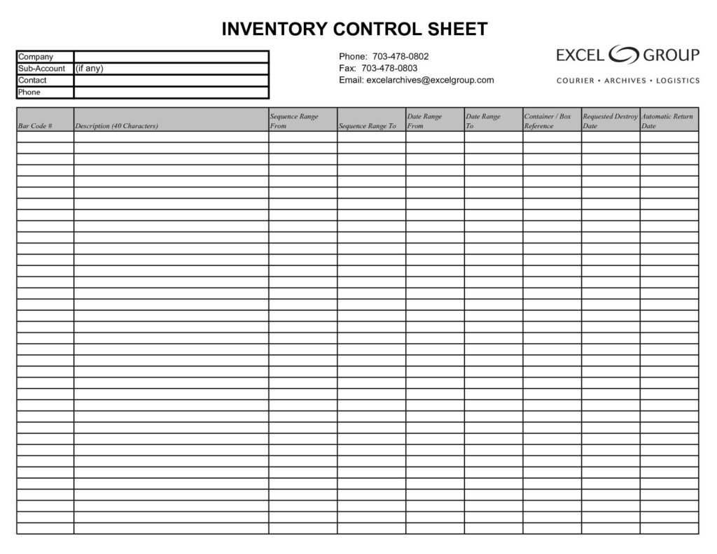 Simple Inventory Tracking Excel Spreadsheet