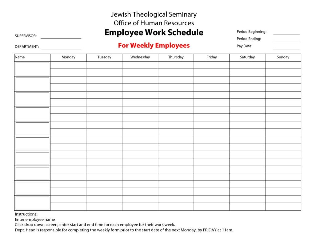 Employee Schedule Templates Free and Excel Employee Shift Schedule Template Software
