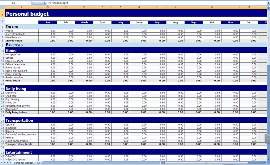 Excel Spreadsheet for Small Business and Excel Sheet for Small Business Accounting