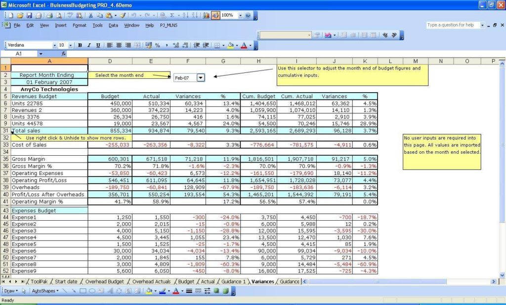 Excel Template for Small Business Bookkeeping and Excel Spreadsheet for Small Business Accounting