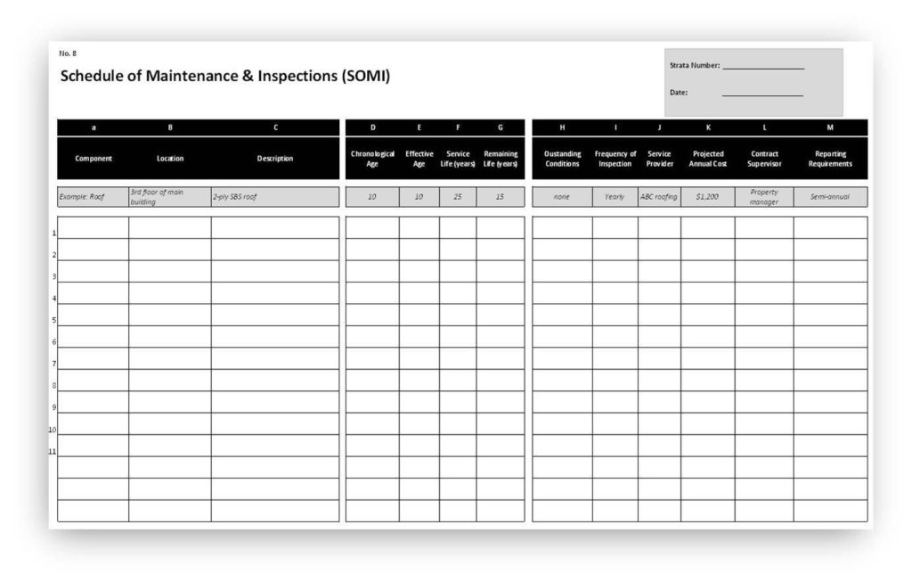 Preventive Maintenance Spreadsheet Template and Preventative Maintenance Checklist Template Excel