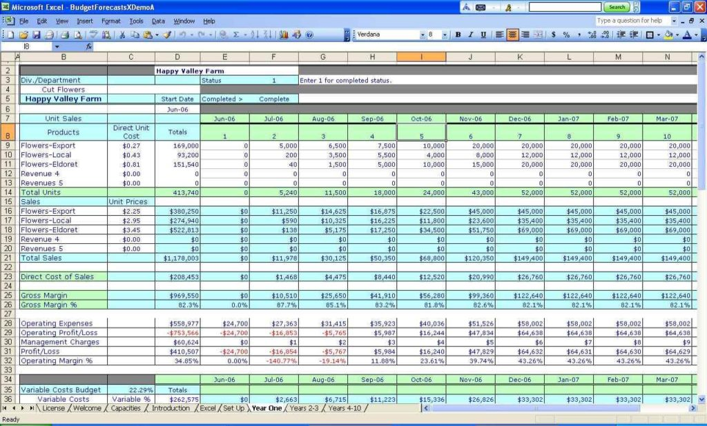 Budget Spreadsheet For Small Business And Free Budget Spreadsheet For Small Business