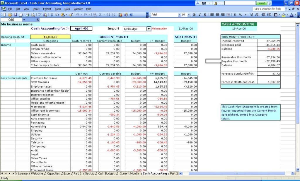 Free Accounting Spreadsheet Templates And Simple Bookkeeping Spreadsheet Template Free