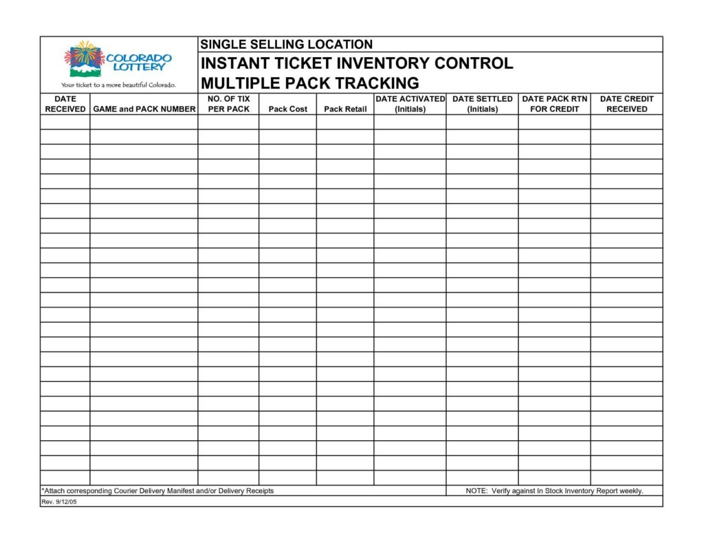 Inventory Control Template With Count Sheet And Small Business Inventory List Template