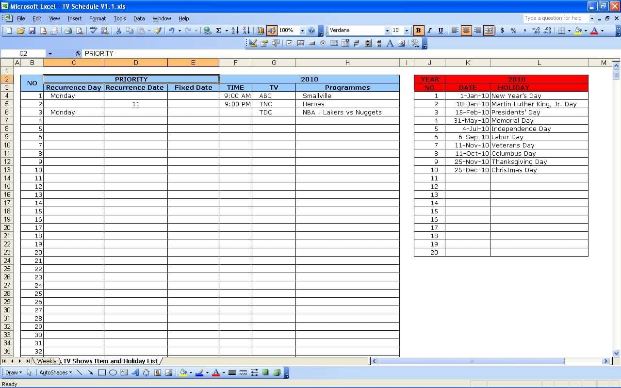 Project Scheduling Templates And Employee Scheduling Spreadsheet Excel