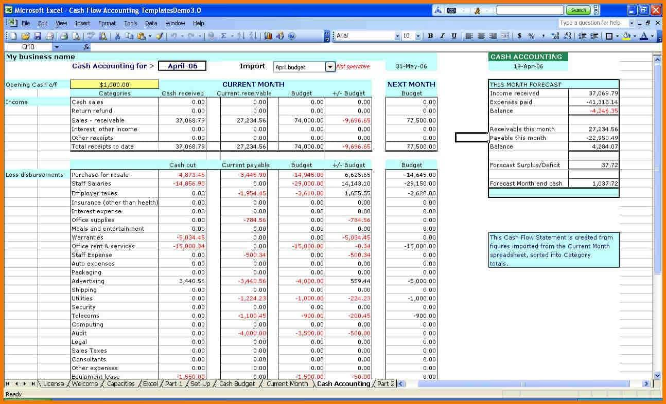 Small Business Accounting Spreadsheet Examples And Home Business Accounting Spreadsheet