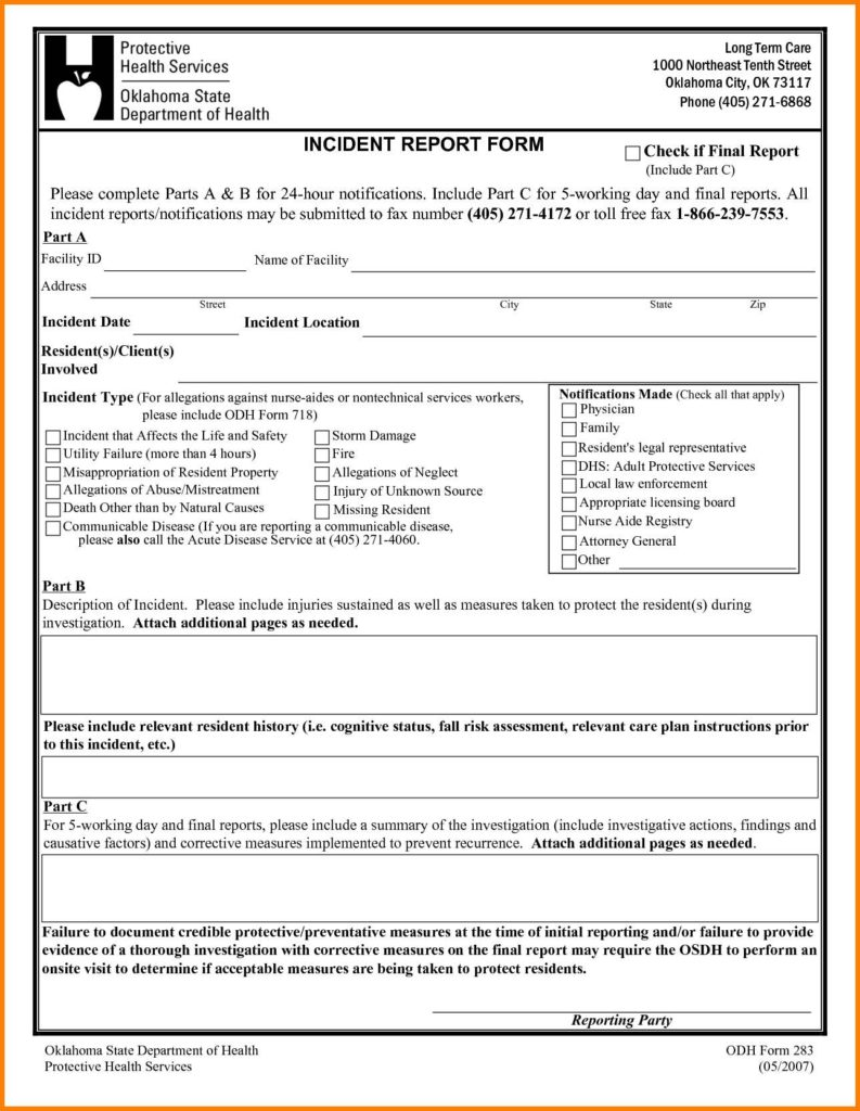 Format Of Incident Report Letter And Sample Of Security Incident Report Writing