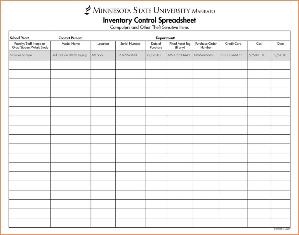 Sample Inventory Sheet Template And Sample Inventory Sheet Business