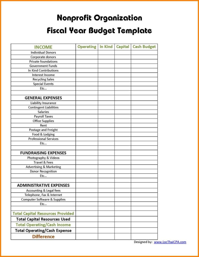 Church Budget Forms And Church Monthly Report Samples