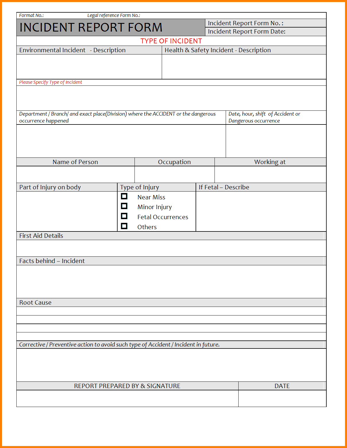 Cyber Security Report Template And Cyber Security Incident Report Form