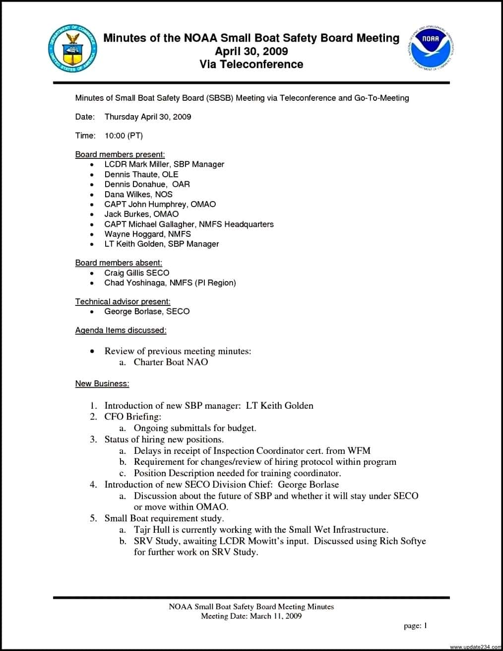 Template For Board Meeting Report And Board Meeting Report Template