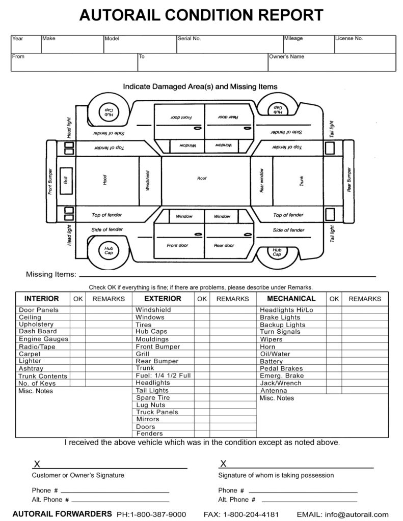 Daily Vehicle Inspection Report Template And Monthly Vehicle Inspection Report Template