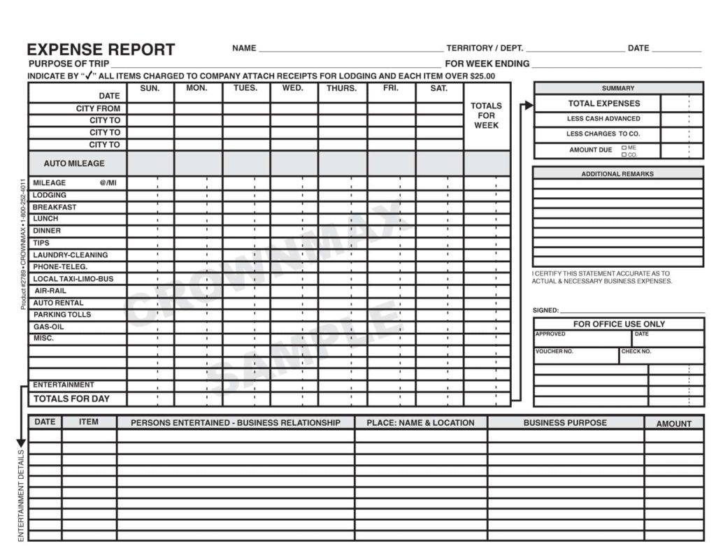 Detailed Expense Report Template And Expense Report Template Mac