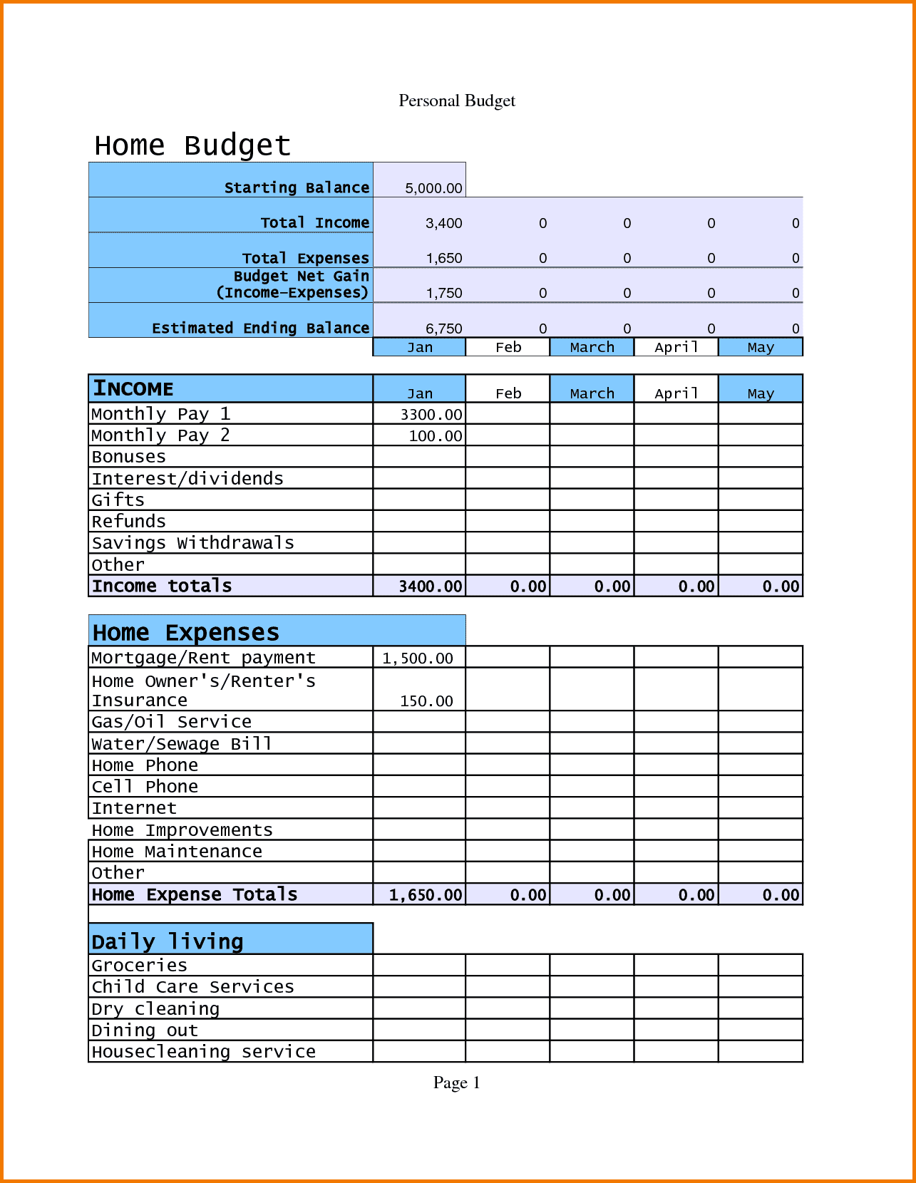 Infant Daily Report Pdf And Childrens Daily Reports From Daycare